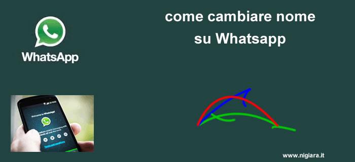 come cambiare nome su Whatsapp