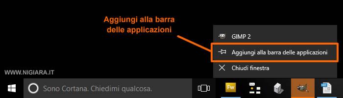 come rimuovere o inserire nuove icone sulla barra inferiore di Windows